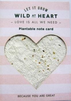 "Plant Card ""Wild at Heart"""